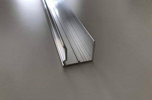 Alu U Abschlussprofil 16 mm silber 980 mm laenge mit Tropfnase fuer 500x330 - Alu-U-Abschlussprofil 16 mm silber 980 mm länge mit Tropfnase für Stegplatten