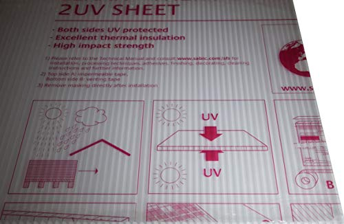 Polycarbonat Hohlkammerplatte Lexan Thermoclear beidseitig UV 1500 x 700 x - Polycarbonat Hohlkammerplatte Lexan Thermoclear beidseitig UV 1500 x 700 x 4,5 mm Stegplatte