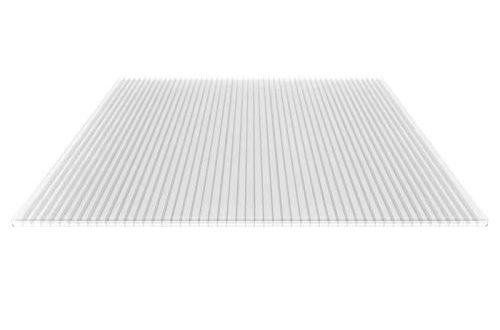 Stegplatte Hohlkammerplatte Stegdreifachplatte Material Polycarbonat Breite 500x330 - Stegplatte | Hohlkammerplatte | Stegdreifachplatte | Material Polycarbonat | Breite 1200 mm | Stärke 16 mm | Farbe Glasklar