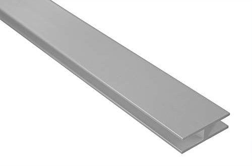 2 Meter H Profil Alu eloxiert 40x12mm 500x330 - 2 Meter | H-Profil | Alu | eloxiert | 40x12mm | Effector | B91 | silber