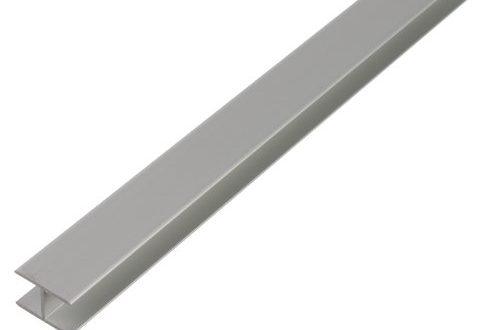 GAH Alberts 030180 H Profil selbstklemmend Aluminium silberfarbig eloxiert 1000 x 500x330 - GAH-Alberts 030180 H-Profil - selbstklemmend, Aluminium, silberfarbig eloxiert, 1000 x 10,9 x 20 mm