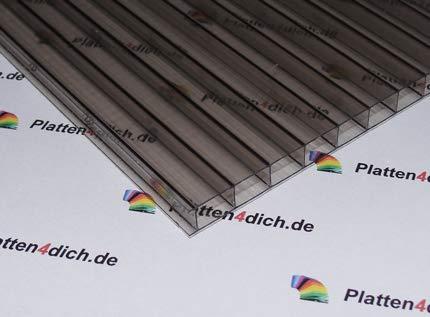 Polycarbonat Dachplatte Stegplatte Dick: 6 mm Farbe: Bronze Größe: 750 mm x 1470 mm -> Wunschmaße auf Anfrage. für Terrasse | Carport Gartenhaus