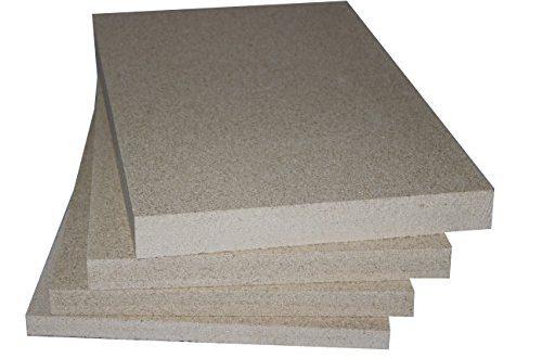 Vermiculite Schamotte Ersatz 5 Platten 500 x 300 x 30 500x330 - Vermiculite Schamotte Ersatz, 5 Platten 500 x 300 x 30 mm, Feuerraum Auskleidung